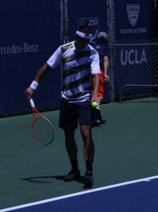 Matosevic serving second round 2012 Farmers Classic