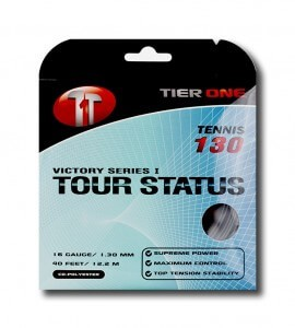 tier one tour status tennis string black