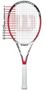 2013 wilson steam 99s 16x15 spin friendly tennis racquet
