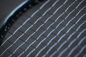 Clarke Pit Viper + Explosion tennis string hybrid