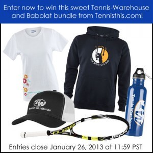 2013 Australian Open racquet giveaway for women