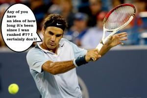 Roger Federer's new ranking 2013