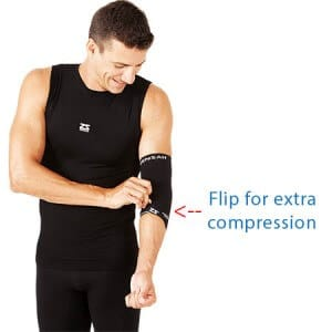 Zensah compression sleeve black