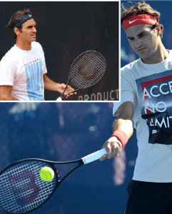 Roger Federer different prototype tennis racquets 2013