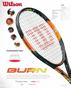 2015 Wilson Burn tennis racquets