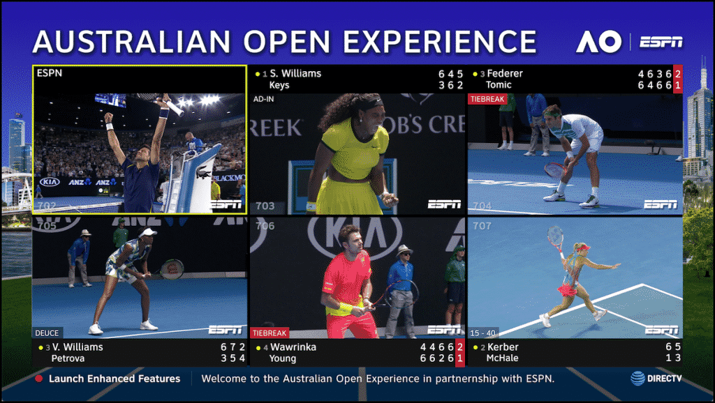 DirecTV 2017 Australian Open Mix Channel