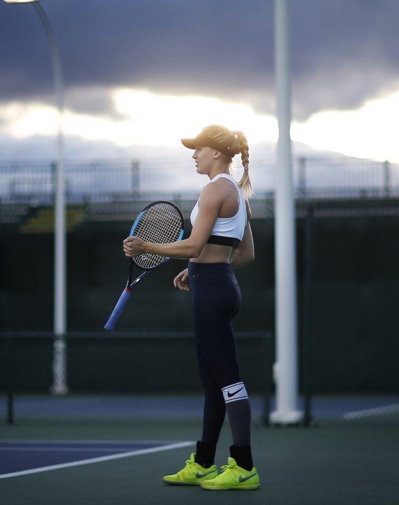 genie bouchard new tennis racquet 2018