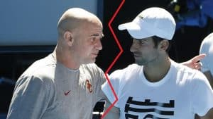 djokovic split from andre agassi tennis 2018
