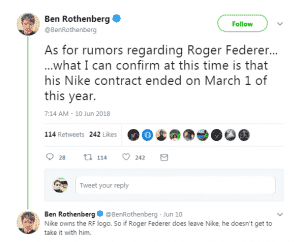 Federer to uniqlo Ben Rothenberg twitter