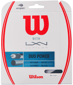Wilson + Luxilon Duo Power tennis string hybrid