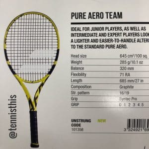 2019 Babolat Pure Aero tennis racquet picture