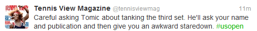 bernard tomic tweet us open andy roddick