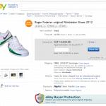 Roger Federer 2012 Wimbledon autographed tennis shoes Ebay